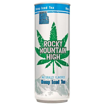 Rocky Mountain High 12-Fluid Ounce Hemp Iced Tea Drink, 12 Pack