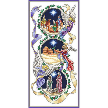 Vickery Collection The Holy Birth Counted Cross Stitch Kit6.375inX13.625in 18 Count