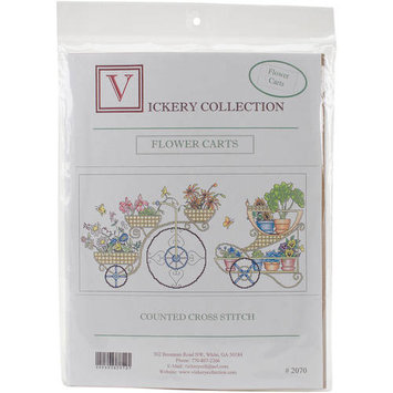 Vickery Collection Flower Carts Counted Cross Stitch Kit18.75inX9.625in 16 Count