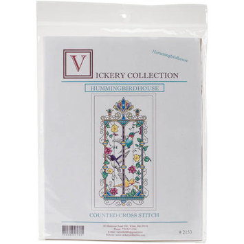 Vickery Collection Hummingbird House Counted Cross Stitch Kit6.25inX11.875in 16 Count