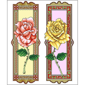 Vickery Collection Greek Roses Counted Cross Stitch Kit10inX12in 16 Count