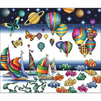 Vickery Collection The Colors Of Life Counted Cross Stitch Kit11.875inX10in 16 Count