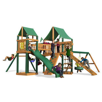 Gorilla Playsets Pioneer Peak Deluxe Swing Set Kit