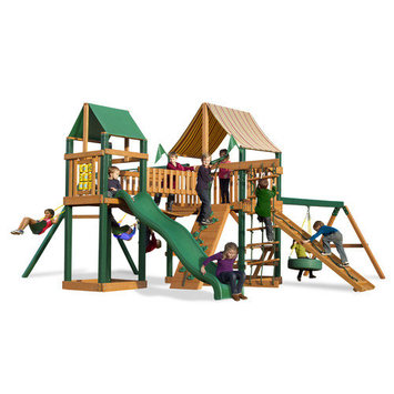 Gorilla Playsets Playground Equipment. Pioneer Peak Supreme WG Cedar Play Set