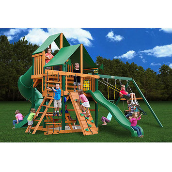 Gorilla Playsets Great Skye I Deluxe Wooden Swing Set