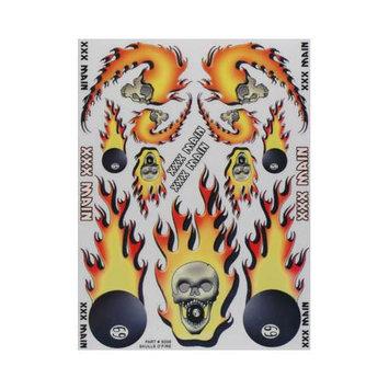 S006 Sticker Sheet Skulls O'Fire XXXC0081 XXX MAIN RACING, INC.