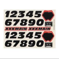 XXX Main Numbers Black Sticker Sheet XXXC0350