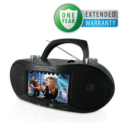 Magnasonic Portable CD/DVD Player Boombox & Bonus 1 Year Extended Warranty