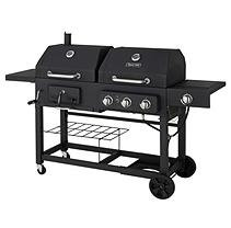 Dyna-Glo 3-Burner Gas and Charcoal BBQ Grill