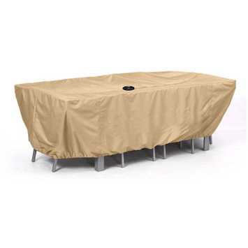 AZ Patio Heaters Grill Tools Hiland Medium Patio Furniture Cover in Camel Brown HLDPAT-1MD-C