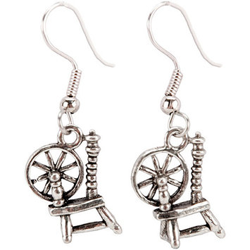 Cedar Creek Quilt Designs 85365 Charming Accents French Wire Earrings-Spinning Wheel
