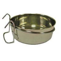 Indipets Stainless Steel Hook-On Coop Cup 10 OZ