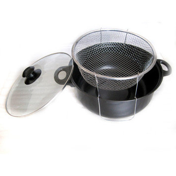 Gourmet Chef Non Stick Deep Fryer with Lid Size: 4.5 Quarts