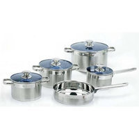 Trimmer Gourmet Chef 14 Piece Stainless Steel Cookware Set