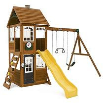 Cedar Summit Swings, Slides & Gyms McKinley Wooden Playset Browns / Tans F24950