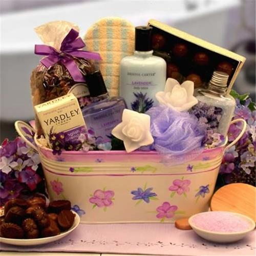 Gift Basket Tranquility Bath and Body Spa Gift- Medium- 841194