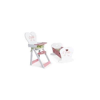 Gis Bowtiful Doll Cradle & High Chair