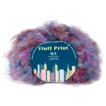 Ny Yarns Fluff Print Yarn-Green Print
