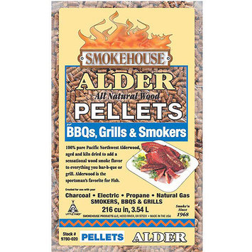 Smokehouse Products 9780-020-0000 5-Pound Bag All Natural Alder Flavored Wood Pellets, Bulk 111262 SmokeHouse