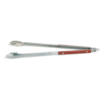 Outset QB22 XL Stainless-Steel Barbecue Tongs w/ Rosewood Handles 1