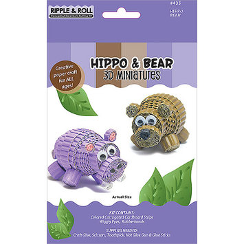 Quilled Creations Quilling Kit-Hippo & Bear