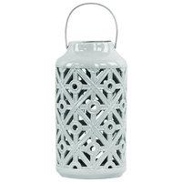 Urban Trends Ceramic Lantern, Gray