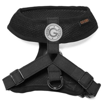 Gooby 04108-BLK-S Freedom Harness II Black Small Soft Synthetic Lambskin Strap