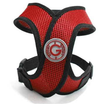 Gooby 04110-RED-L Comfort X Harness Red Large Soft Synthetic Lambskin Trimming Strap