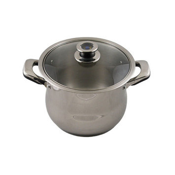 Concord Cookware Inc. CONCORD 12 QT Tri-Ply Mirror Polish Stainless Steel Stock Pot w Thermostat Lid
