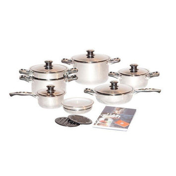 Concord Cookware Inc. Concord Cookware Millerhaus 7-Ply T304 Stainless Steel 17-Piece Cookware Set