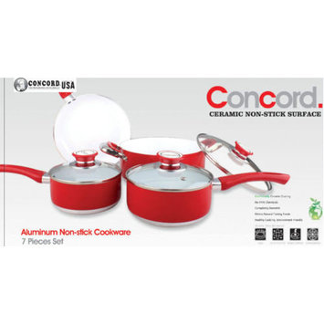 Concord Cookware Inc. Concord Cookware 7 Piece Ceramic Non-stick Cookware Set