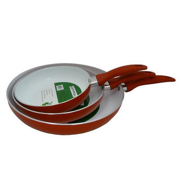 Concord Eco Friendly Healthy Ceramic Non-stick Frying Pan 3-Piece Cookware Set