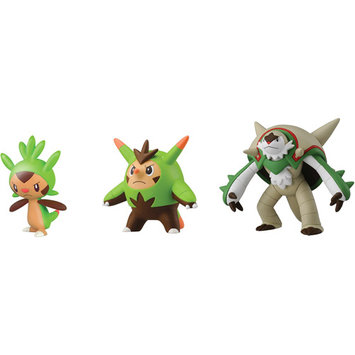 Shreeram Overseas Pokémon 3 Figure Pack-Chespin, Quillad and Chesnaught