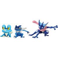Shreeram Overseas Pokémon 3 Figure Pack-Froakie, Frogadierand and Greninja