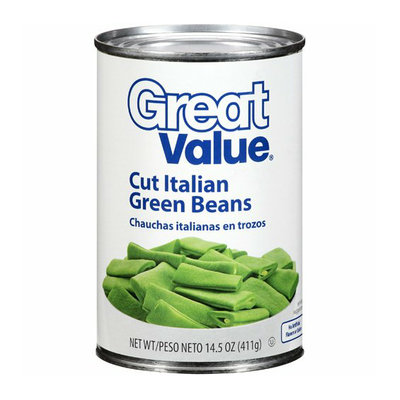 Great Value : Cut Italian Green Beans