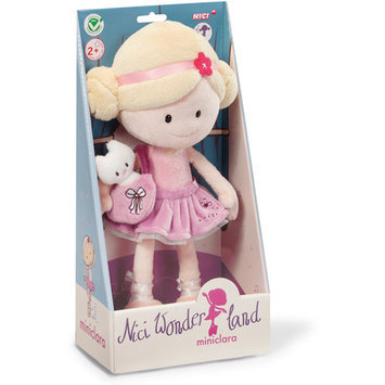 Flat River Group Llc MiniClara 11.75 inch Dangling Plush Doll w/ Handbag