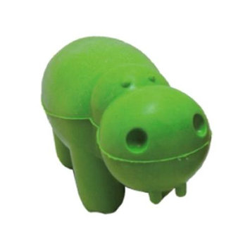 Best Pet Supplies RT51-EG Dog Squeaky Chewing Toy - Hippo Emerald Green 5.5 in.