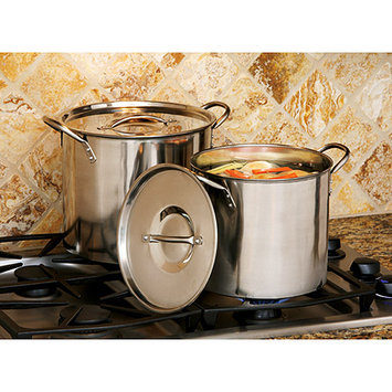 Cookpro 524 Steel Stockpot 8Qt and 12Qt