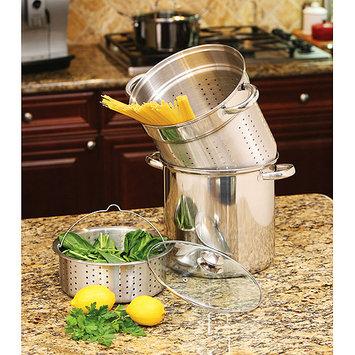 Cookpro 529 Steel Pasta Cooker 12Qt 4Pc Encapsulated Base