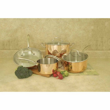 Cookpro 546 8 Pc Tri-Ply Copper Cookware Set with Glass Lids