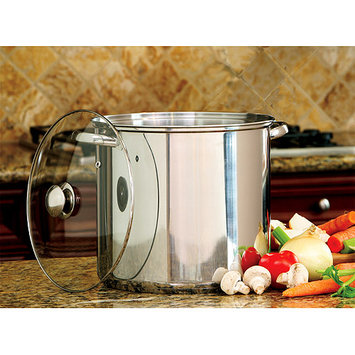 Cookpro 550 Steel Stockpot 16Qt With Glass Lid