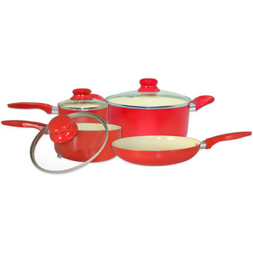 Cook Pro, Inc. ExcelSteel Aluminum Cookware Set with Ceramic Non-Stick Coating