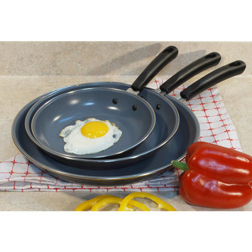 Cook Pro 3-Piece Professional Carbon Steel Fry Pan Set