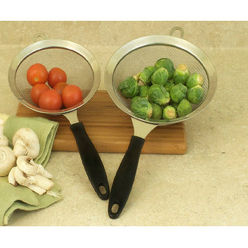 Cookpro 749 2 Pc Stainless Steel Strainers w/ Bakelite Handles