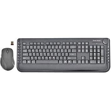 Gear Head-computer GEAR HEAD Black RF Wireless Keyboard & Optical Mouse