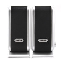Imicro USB 2.0 2-Piece Speakers (Black/Silver) SPIMD168B