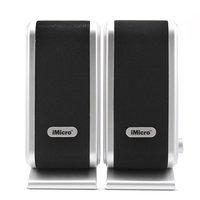 Imicro USB 2.0 2-Piece Speakers (Black/Silver) SPIMD168B