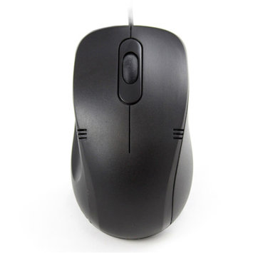 iMicro MO-1008BRU USB Wired Optical Mouse (Black)