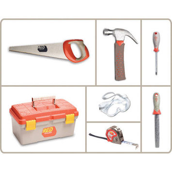 Red Tool Box 6 Piece Toolset with Tool Box