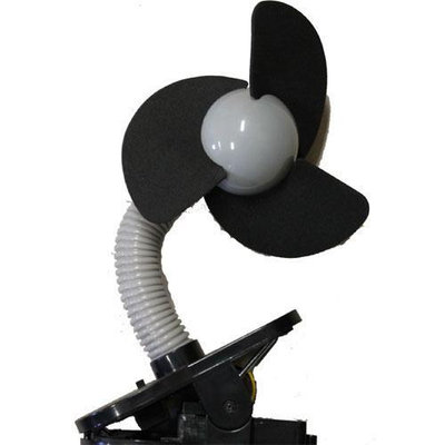 Dreambaby Clip On Fan - Silver with Black Foam
